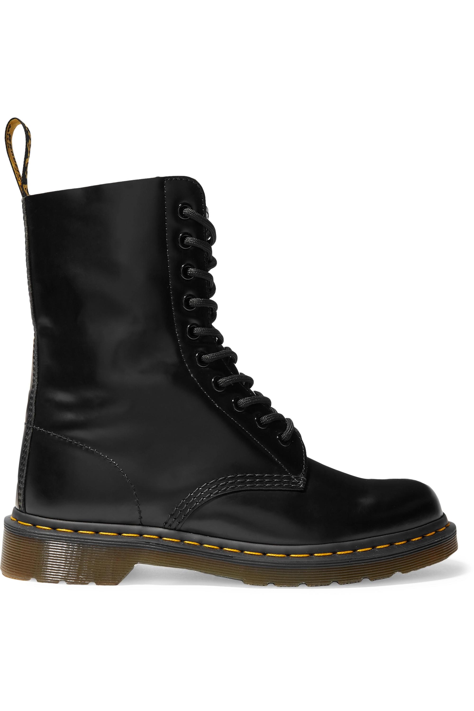 Black + Dr. Martens leather ankle boots
