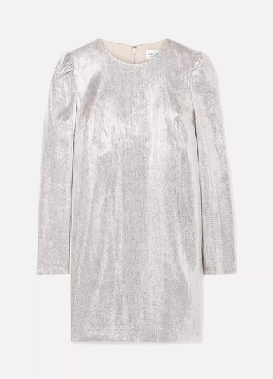 Ami Metallic Woven Mini Dress by Rachel Zoe