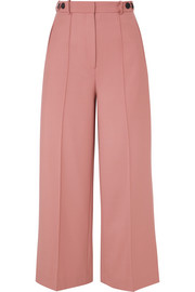 Rokh Cropped twill wide-leg pants