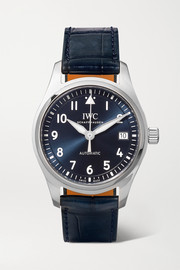 Pilot's Automatic 36mm stainless steel and alligator watch