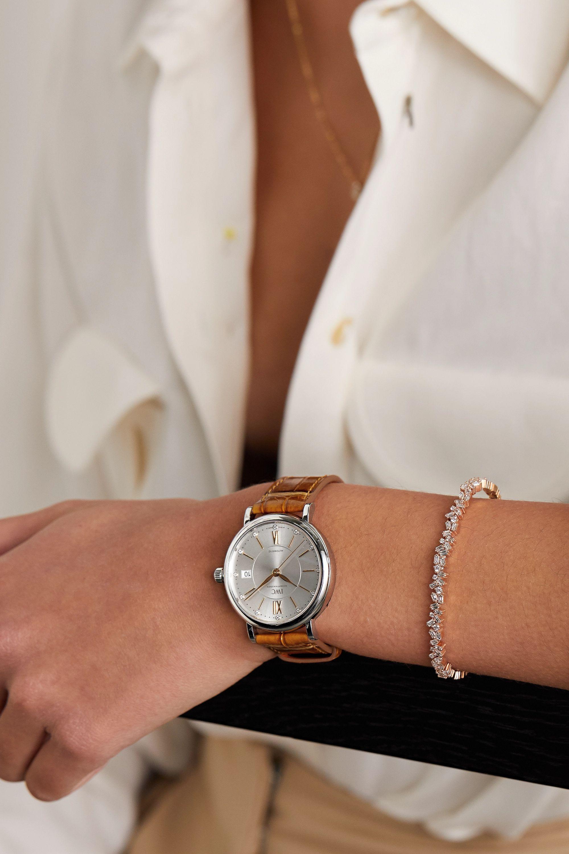 IWC SCHAFFHAUSEN Portofino Automatic 37mm stainless steel, alligator and diamond watch