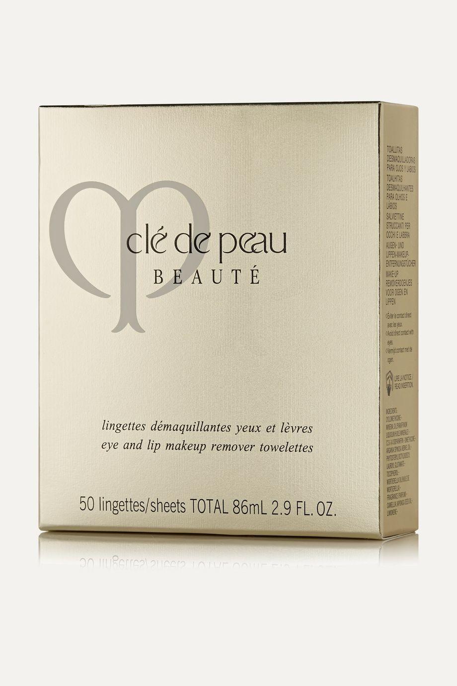 Clé de Peau Beauté Eye and Lip Makeup Remover Sheets x 50