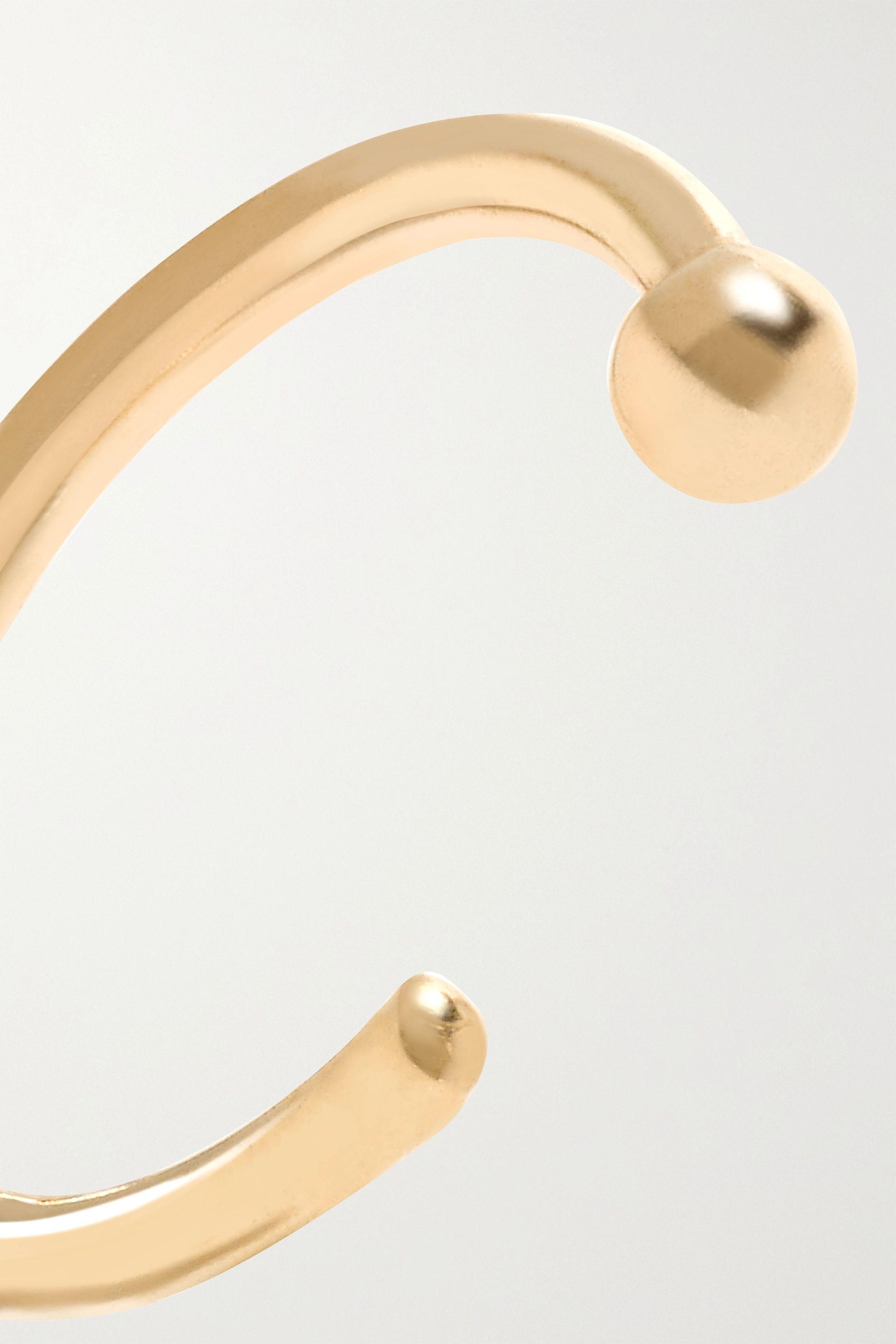 Melissa Joy Manning 14-karat gold hoop earrings