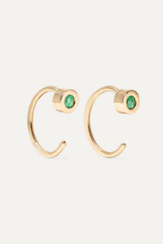Melissa Joy Manning 14-karat gold emerald earrings