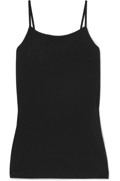 HANDVAERK Pima Cotton-Jersey Camisole in Black