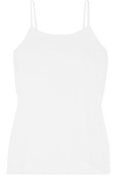 HANDVAERK Pima Cotton-Jersey Camisole in White