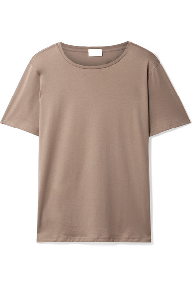 HANDVAERK Pima Cotton-Jersey T-Shirt in Sand