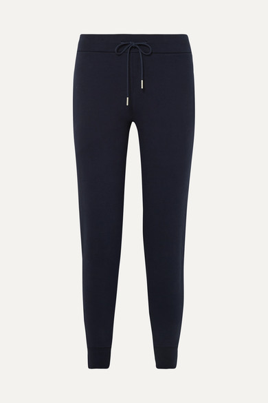 HANDVAERK | Handvaerk - Cotton-terry Track Pants - Navy | Goxip