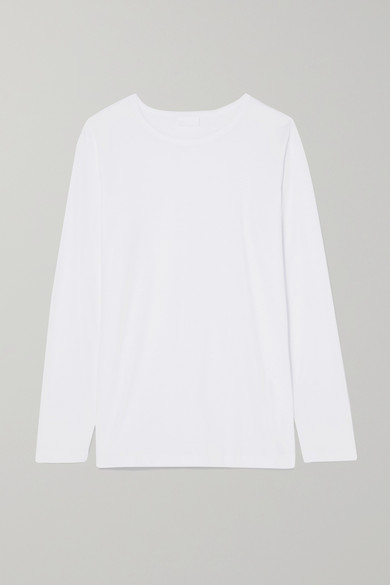 HANDVAERK Cotton-Jersey Top in White