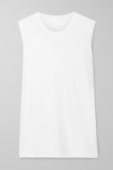 HANDVAERK Pima Cotton-Jersey Tank in White