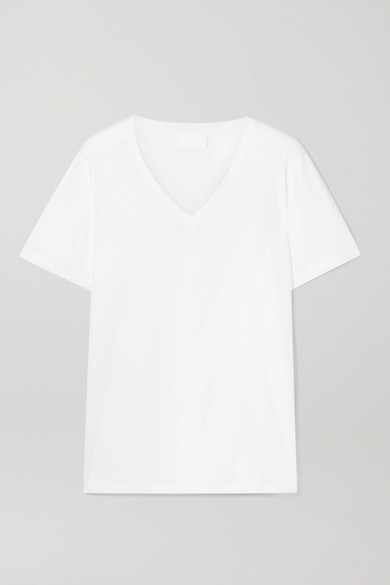 HANDVAERK Pima Cotton-Jersey T-Shirt in White