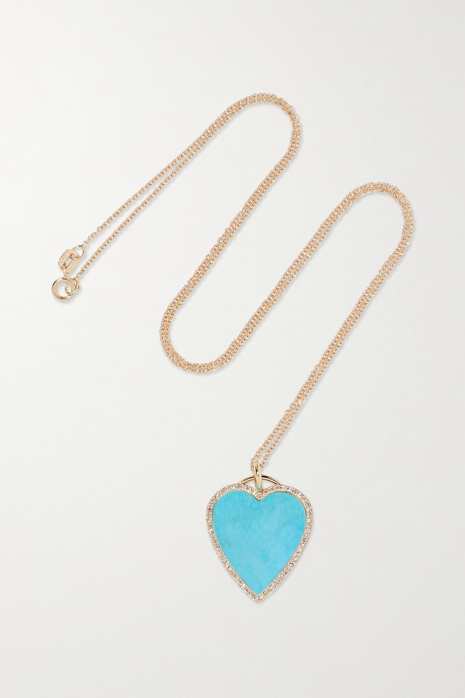 Jennifer Meyer Collier en or 18carats, turquoise et diamants