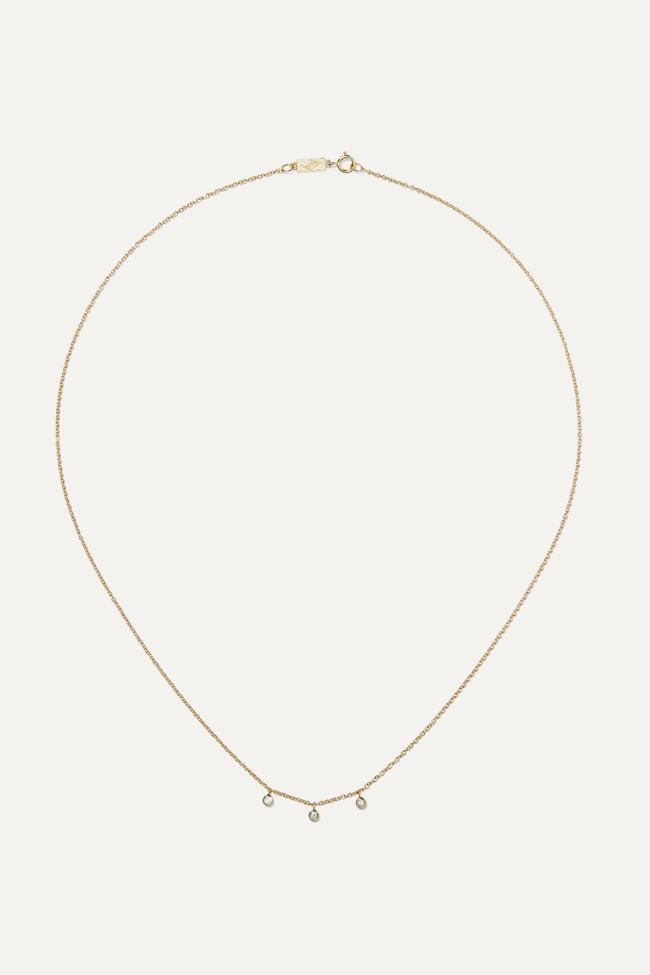 Jennifer Meyer 18-karat gold diamond necklace