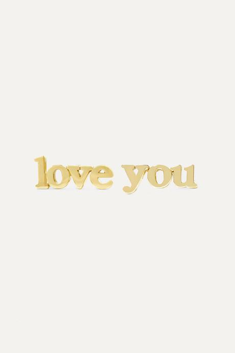 Gold Love You 18-karat gold earrings | Jennifer Meyer w3ymbE