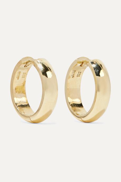 Gold Wide Huggies 18-karat gold earrings | Jennifer Meyer TlaCgk