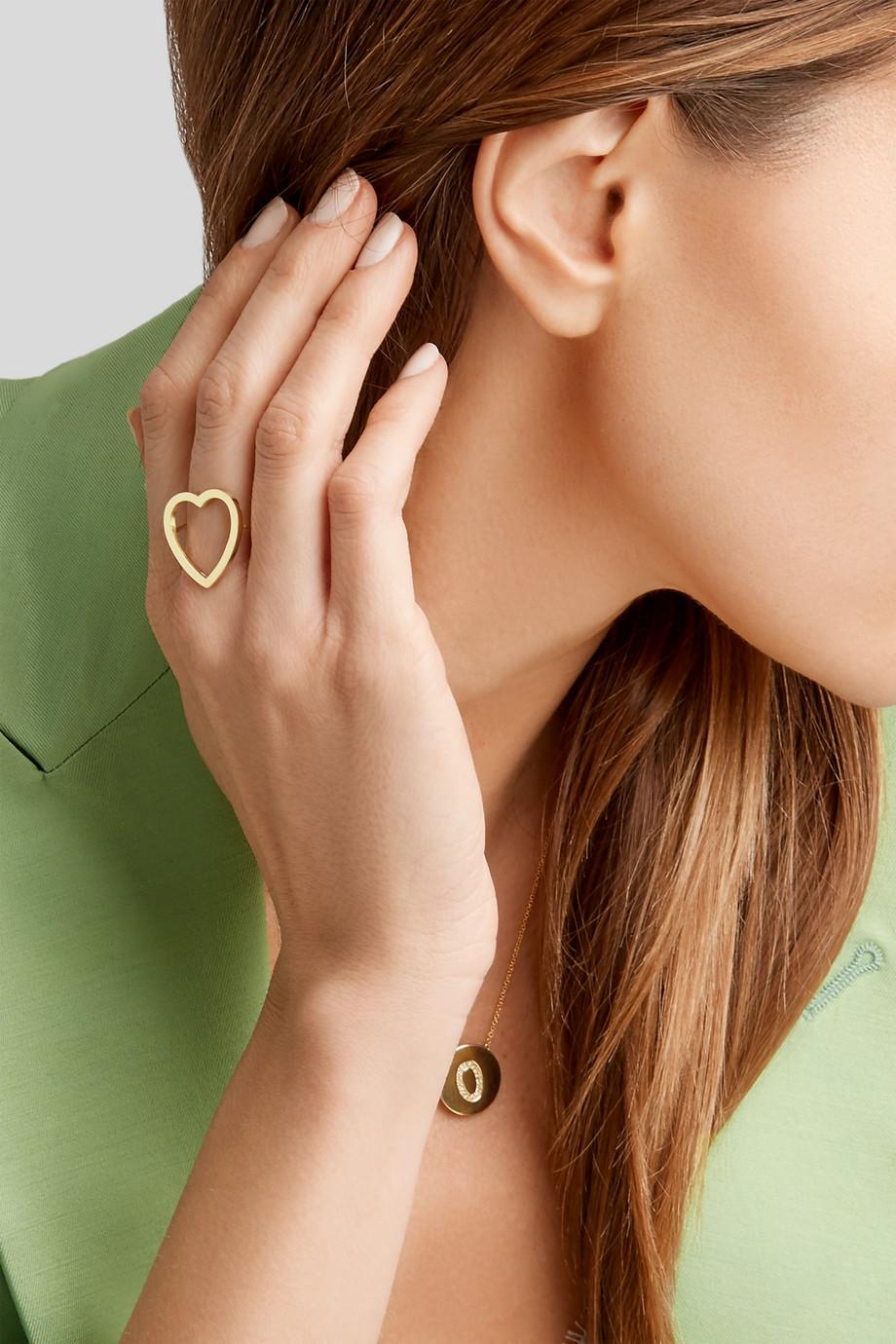 Jennifer Meyer Open Heart 18-karat gold ring