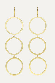 Open Circle 18-karat gold earrings