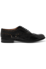 Burwood glossed-leather brogues