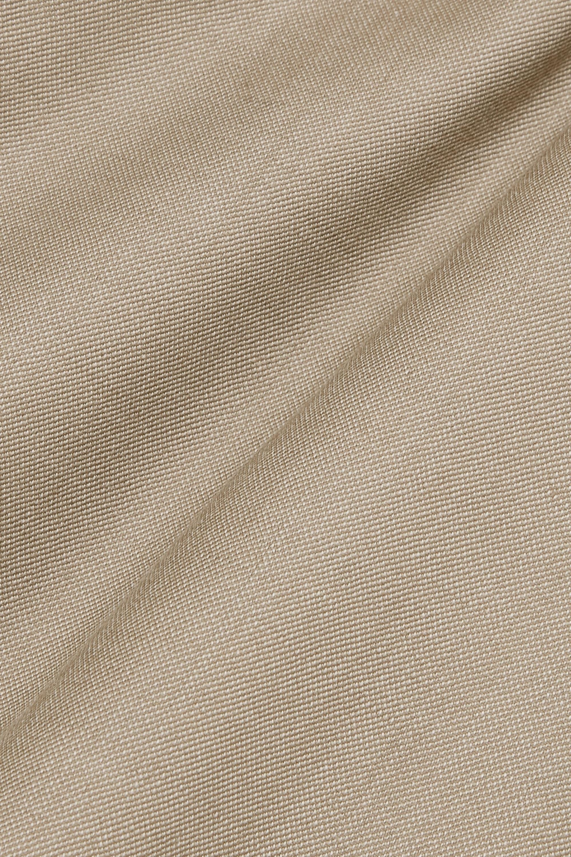ANNA QUAN Roxy cropped wool-blend straight-leg pants