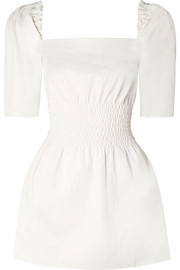 ANNA QUAN Terri shirred stretch-cotton mini dress