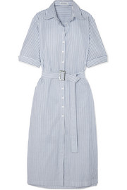 ANNA QUAN Zola belted striped cotton midi dress
