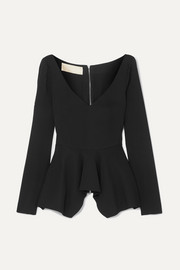 Stretch-cady peplum top