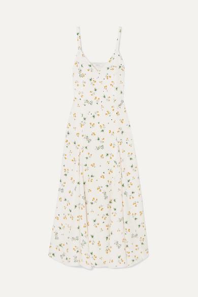 Racil Dresses AVA FLORAL-PRINT SILK CREPE DE CHINE MIDI DRESS