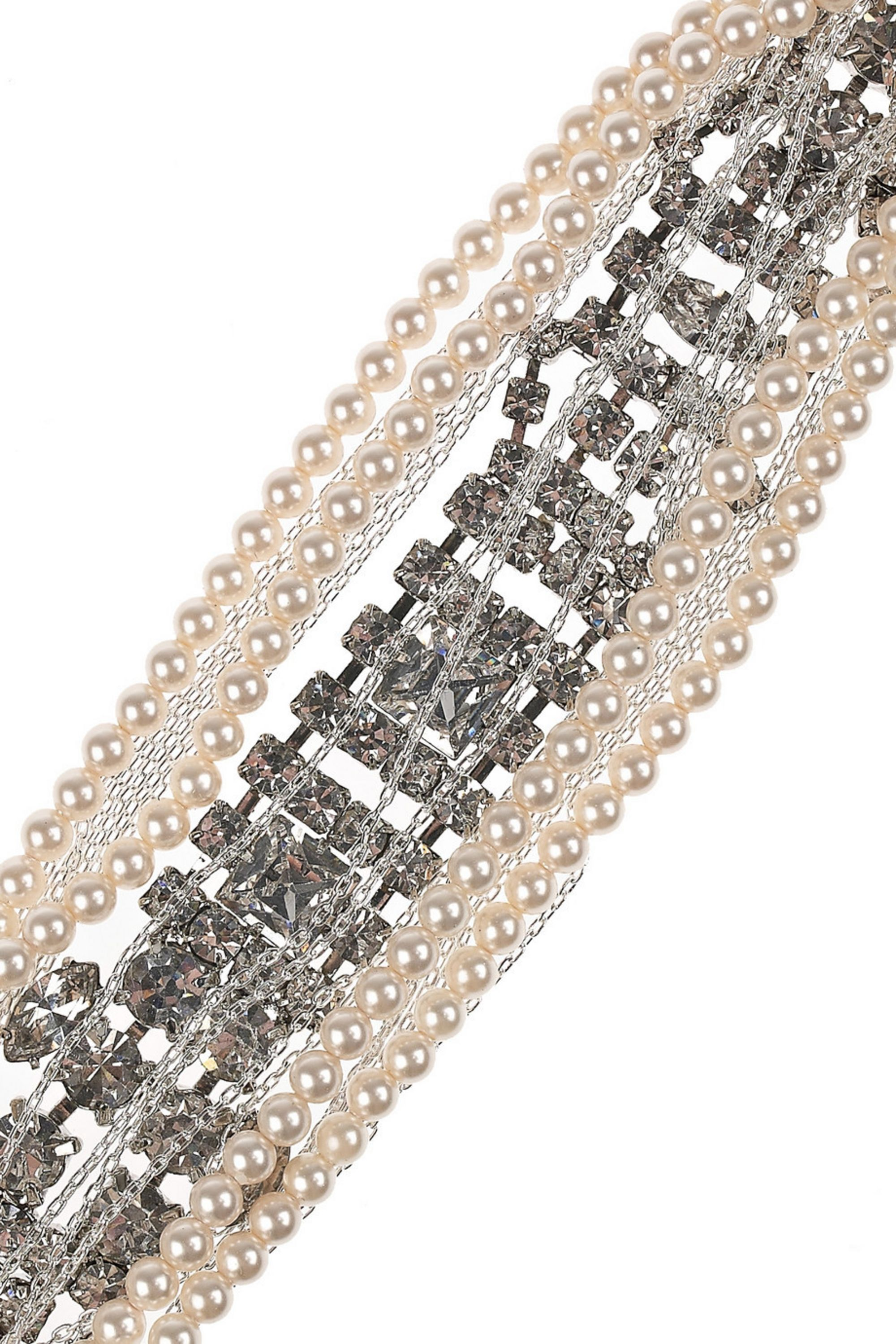 Tom Binns Twisted crystal and faux-pearl bracelet