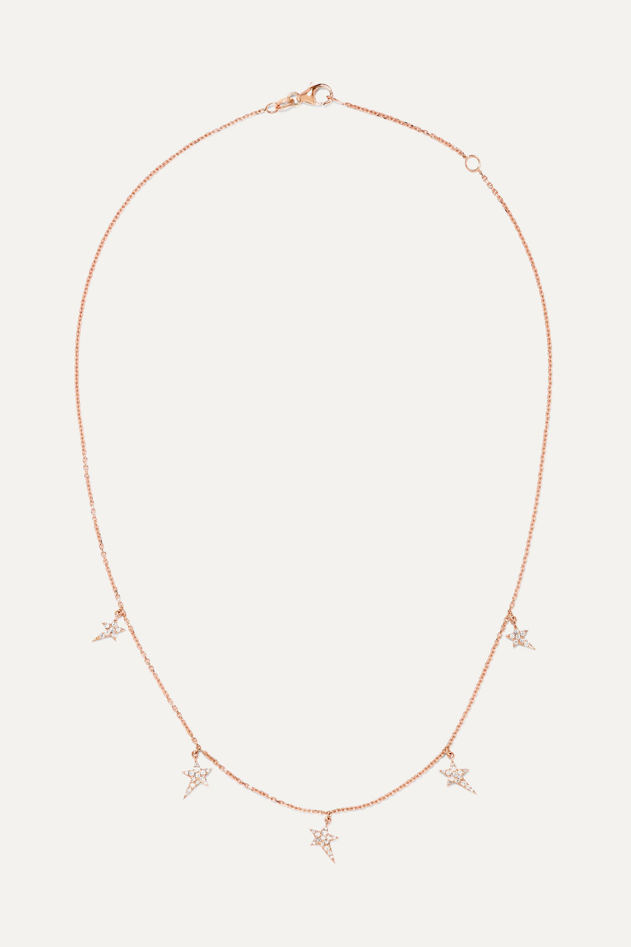 Diane Kordas Star 18K 玫瑰金钻石项链