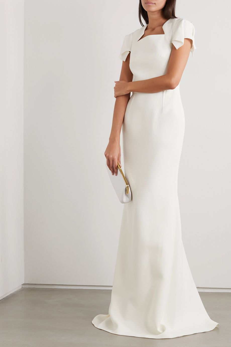 Roland Mouret Clovelly wool-crepe gown