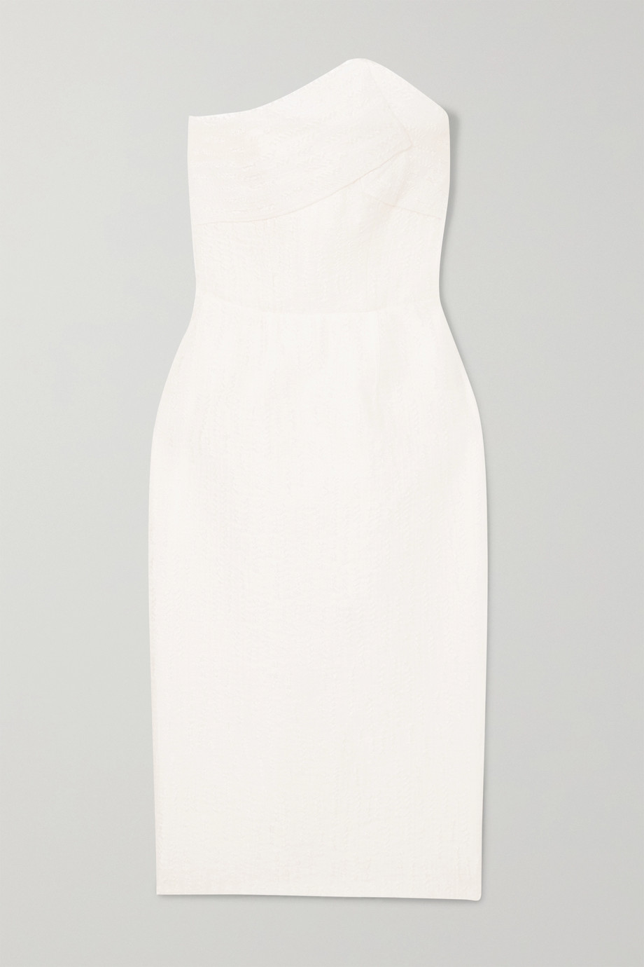 Roland Mouret Senga strapless cloqué dress