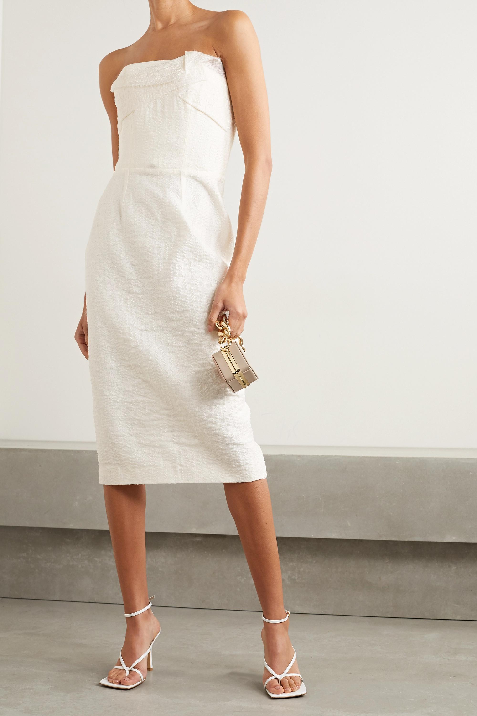 Roland Mouret Senga strapless cloqué dress