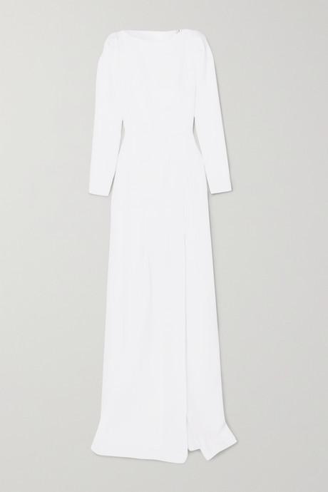 White Ella wool-crepe gown   Roland Mouret AdNUQr