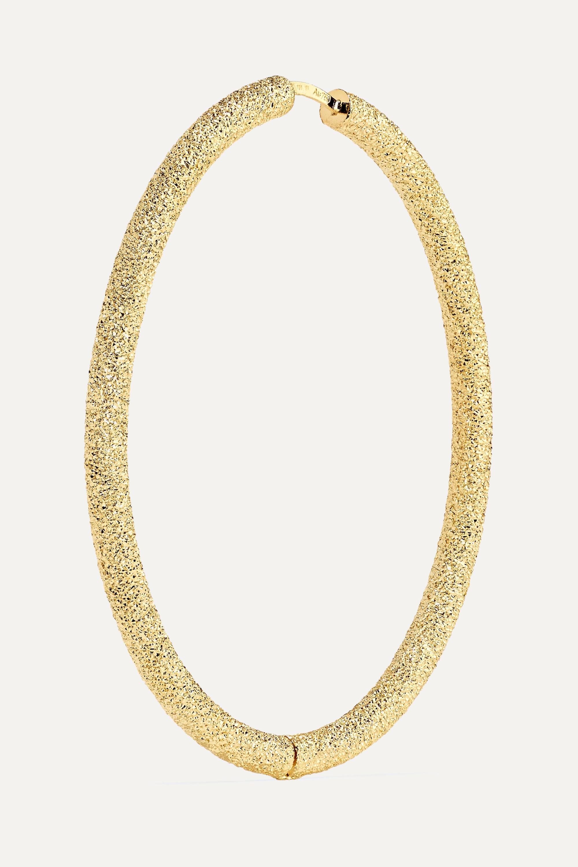 Carolina Bucci Florentine 18-karat gold hoop earrings