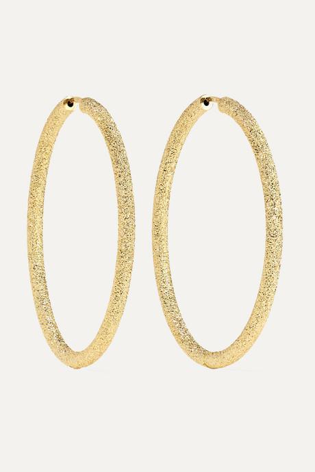 Gold Florentine 18-karat gold hoop earrings | Carolina Bucci 0A27WW