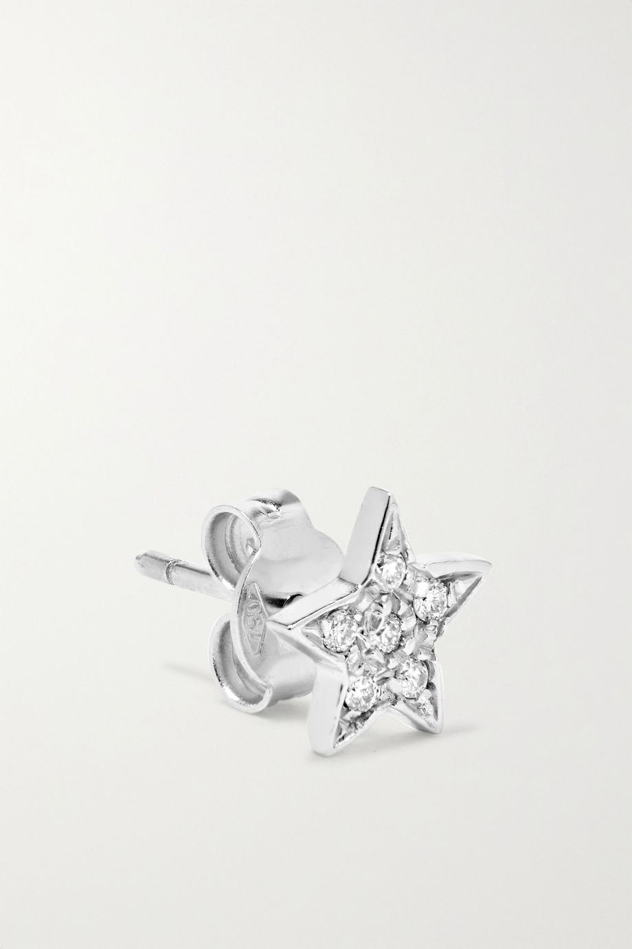Carolina Bucci Superstellar 18-karat white gold diamond earrings