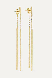 Double Magic Wand 18-karat gold earrings