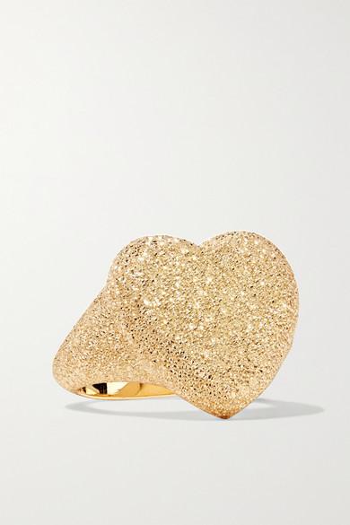 Florentine Heart 18-Karat Gold Ring