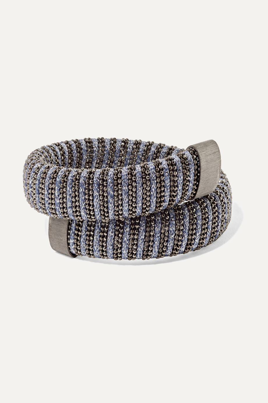 Carolina Bucci Caro silver-plated, sterling silver and Lurex bracelet