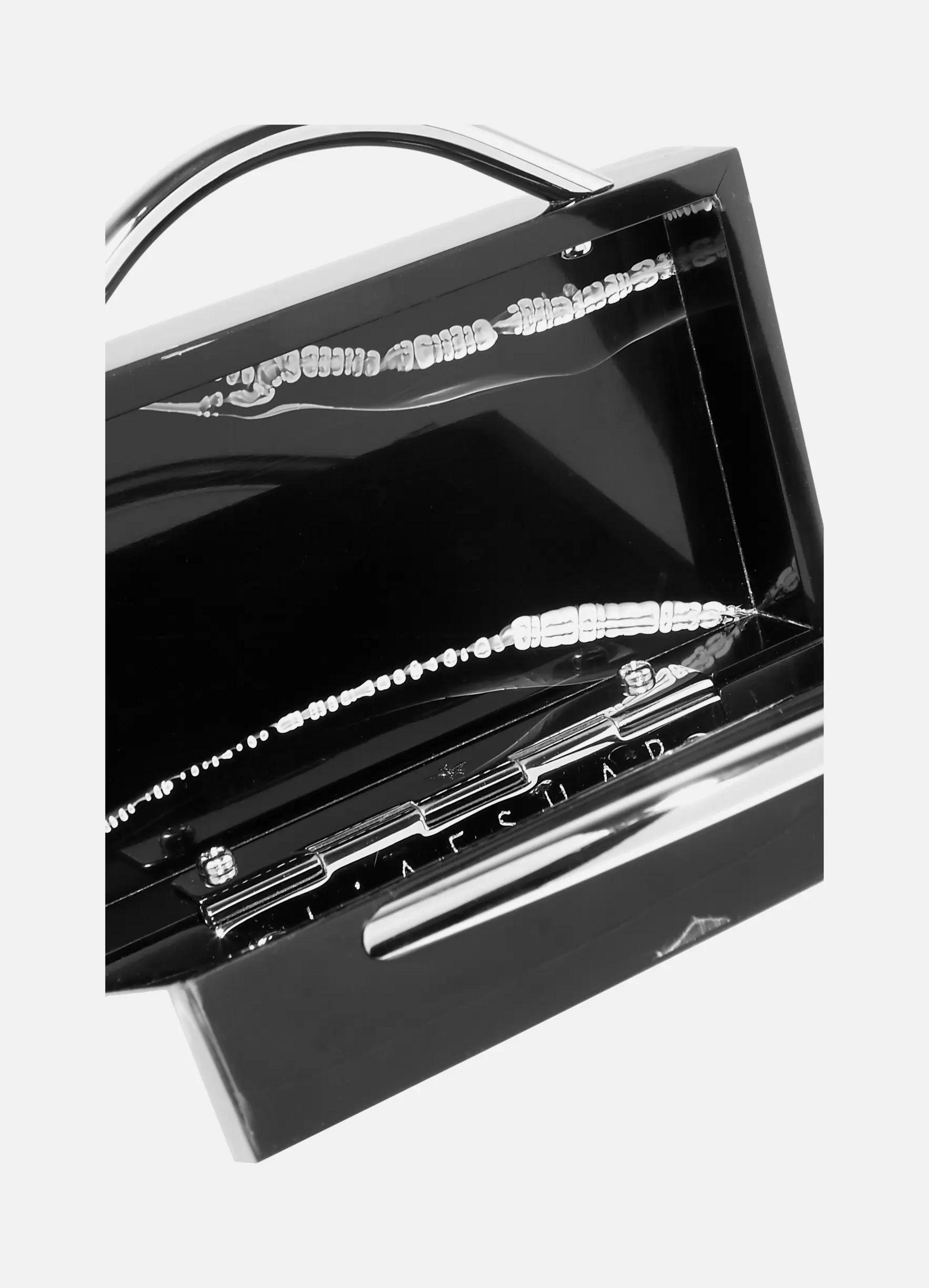 L'AFSHAR Eugene marbled Perspex clutch