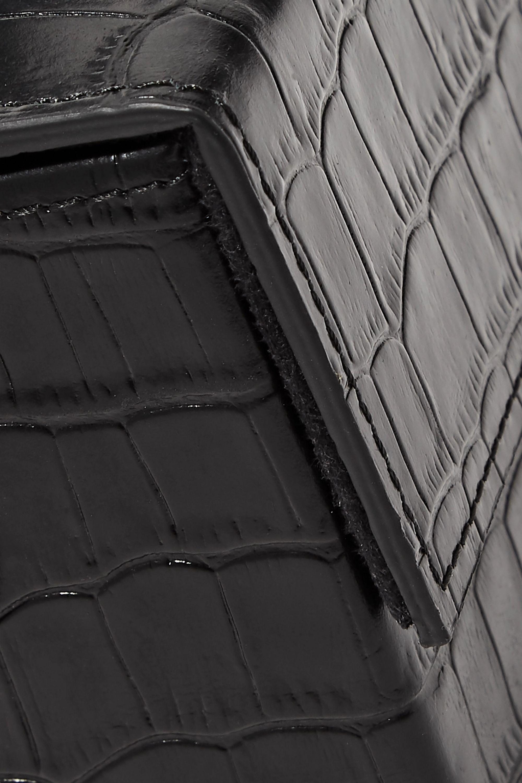 L'AFSHAR Ida Clutch aus Leder mit Krokodileffekt