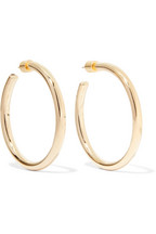 Jennifer Fisher Baby Lilly Gold Plated Hoop Earrings