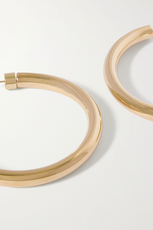Jennifer Fisher Samira gold-plated hoop earrings