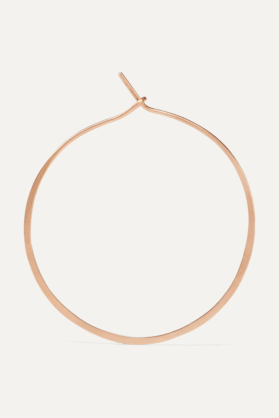 Brooke Gregson 18-karat rose gold hoop earrings