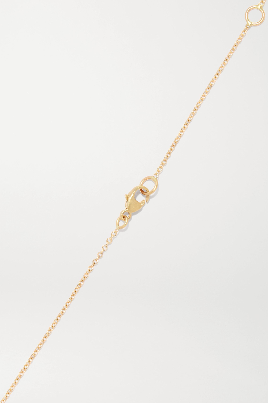 Brooke Gregson Cancer 14-karat gold diamond necklace