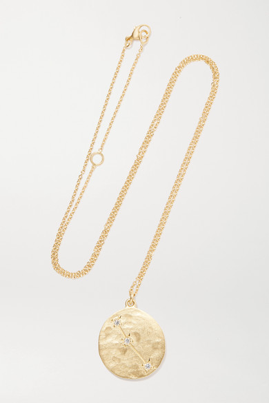BROOKE GREGSON Aries 14-Karat Gold Diamond Necklace