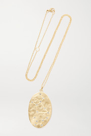 Virgo 14-karat gold diamond necklace