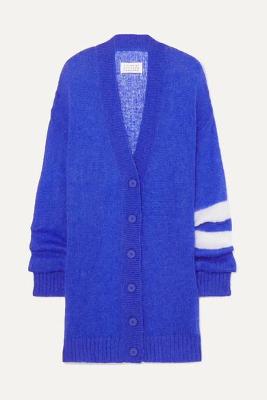 Fine-Gauge Knit Oversized Cardigan - Blue Size Xs