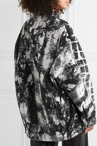 Maison Margiela Jackets Oversized printed denim jacket