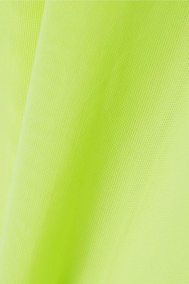 Maison Margiela Suits Neon stretch-mesh bodysuit